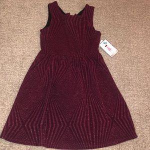 Trixxi sleeveless Glitter Knit Dress